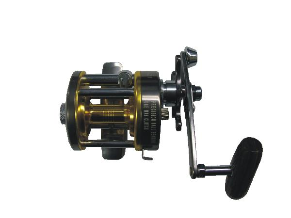 World's Smallest Level Wind Reel! Star drag system, (3) three ball bearings, infinite anti-reverse, machined aluminum spool, wood barrel style paddle, gear ratio: 4.2.1, level wind retrieve system.