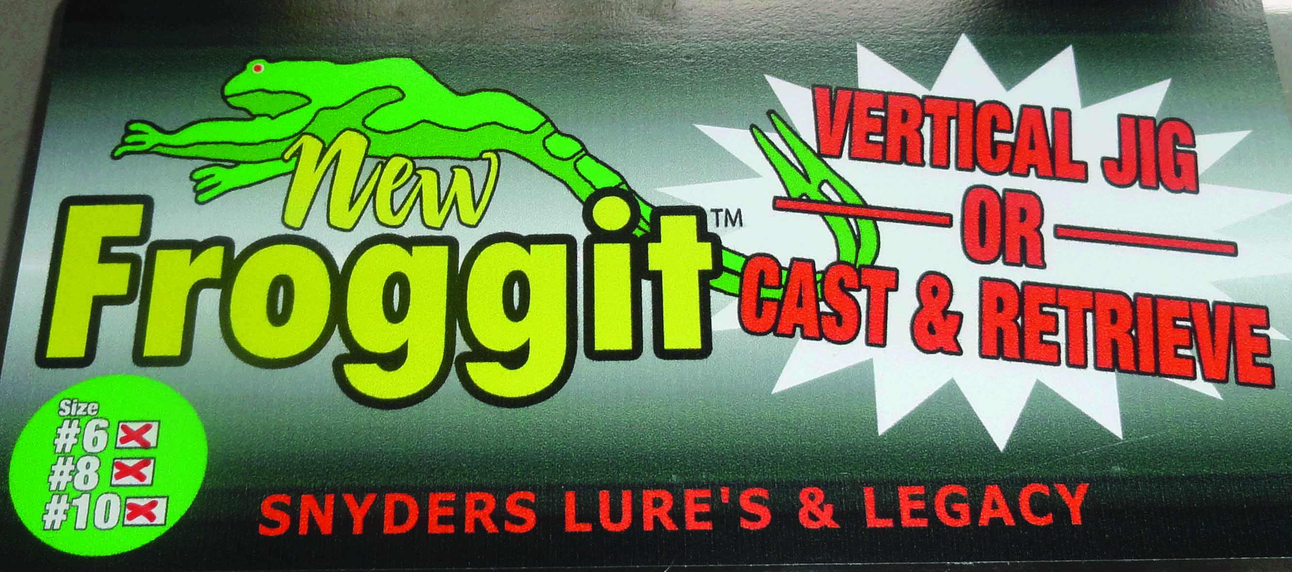 Snyders Lures & Legacy Froggit Jigs