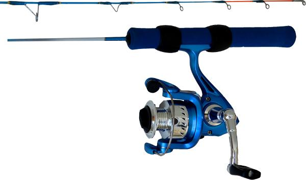 Ice Blue Fishing Rod Combo