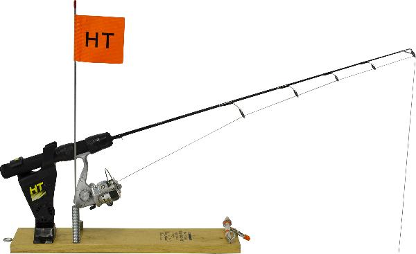 The Original Ice Rigger allows you to fish with multiple rod & reel combos at one time! The Ice Rigger acts like a traditional tip-up with flag that signals the strike. Simply lift the rod out of the holder and fight your fish. Lighted model includes a Nite Strike Lite!
