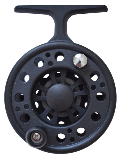 Lightweight premium carbon fiber body. Keep your line coil free when using this reel positive drag system. Great for pencil style grip when using your favorite ice rod. Catch the big one using this super deluxe reel.